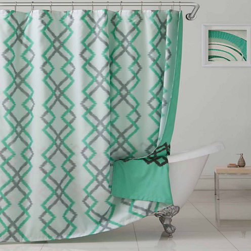 Duck River Kelsey Flocking M/F Reversible Shower Curtain