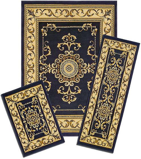 Achim Royal Crown Rectangular 3-pc. Rug Set