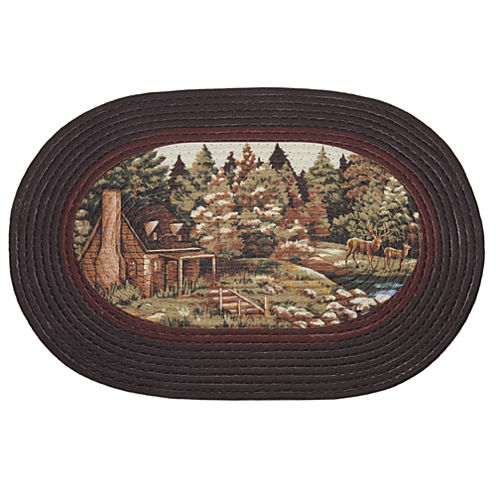 Achim Woodlands Braided Oval Rugs