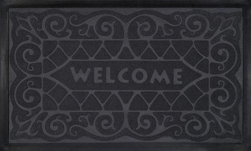 Achim Wrought Iron Rectangular Doormat