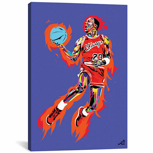 Icanvas Michael Jordan (1985) Canvas Art