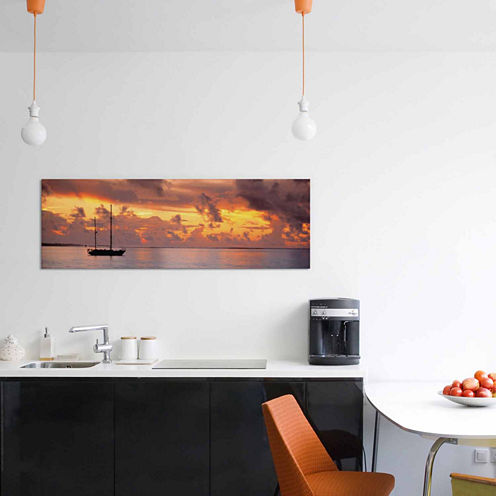 Icanvas Boat At Sunset Canvas Art