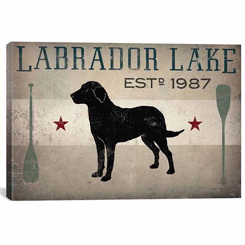 Icanvas Labrador Lake Ii Canvas Art