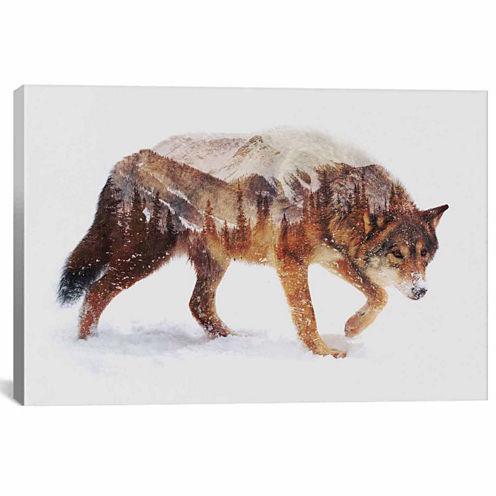 Icanvas Arctic Wolf Canvas Art