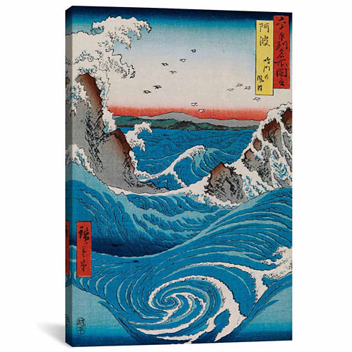 Icanvas The Crashing Waves Canvas Art