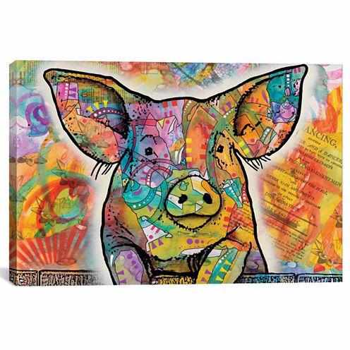 Icanvas The Pig Canvas Art