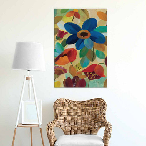 Icanvas Summer Floral Panel I Canvas Art