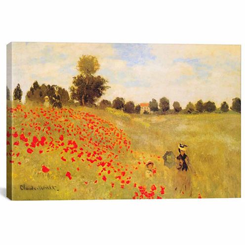 Icanvas Field Of Poppies Canvas Art