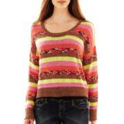 Scoopneck Drop-Shoulder Pullover Top