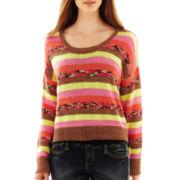 Scoopneck Drop-Shoulder Pullover Top
