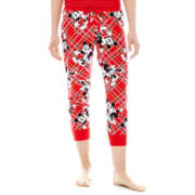 Disney Graphic Print Cotton Cuffed Sleep Pants
