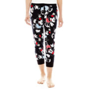 Disney Graphic Print Cotton Cuffed Sleep Pants - Juniors
