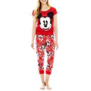 Disney Graphic Short-Sleeve Sleep Tee or Cotton Cuffed Sleep Pants