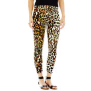 Animal Print Jersey Knit Cropped Leggings