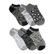 Mixit™6-pk. Black and White Animal Socks