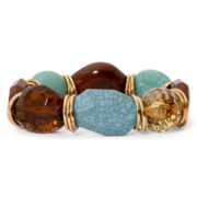 Mixit™ Simulated Turquoise & Tiger's Eye Stretch Bracelet