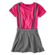 Kandy Kiss® Short-Sleeve Suspender Skirt Jumper - Girls 6-16