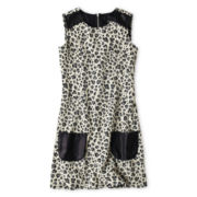 Disorderly Kids® Sleeveless Leopard-Print Shift Dress - Girls 6-16