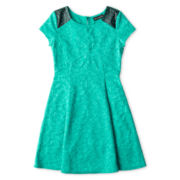 Disorderly Kids® Short-Sleeve Lace Jacquard Dress - Girls 6-16 and Plus