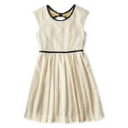 Speechless® Cap-Sleeve Lace Bow-Back Dress - Girls 6-16 and Plus