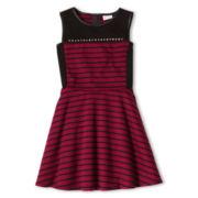 Sally M™ Sally Miller Sleeveless Leather-Trim Dress - Girls 6-16