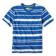 Arizona Slub Stripe V-Neck Short-Sleeve Tee - Boys 6-18