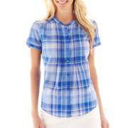 St. John's Bay Pintuck Woven Shirt