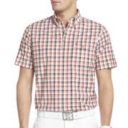 IZOD® Golf Plaid Popover Top