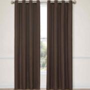 CLOSEOUT! Eclipse® Handel Stripe Grommet-Top Blackout Curtain Panel