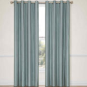 CLOSEOUT! Eclipse® Handel Stripe Grommet-Top Blackout Curtain Panel