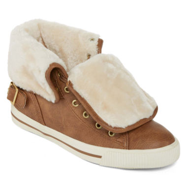 jcpenney.com | Arizona Criss Faux Fur Lace-Up Sneakers