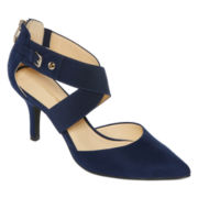 Liz Claiborne® Keegan Strap Pumps - Wide