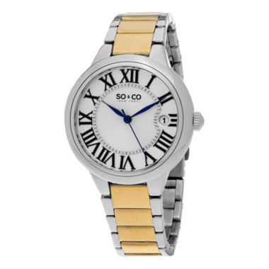 jcpenney.com | SO & CO Ny Women'S Madison Stainless Steel Silver And Gold Tone Bracelet Dress Quartz Watch J154P69
