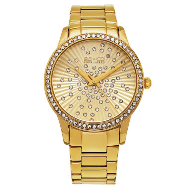 jcpenney.com | SO & CO Ny Women'S Madison Gold Tone Stainless Steel Bracelet Dress Quartz Crystal Scattered Dial Watch J160P22