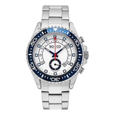 jcpenney.com | SO & CO Ny Men'S Yacht Club Stainless Steel Bracelet Chronograph Sport Quartz Watch J153P39