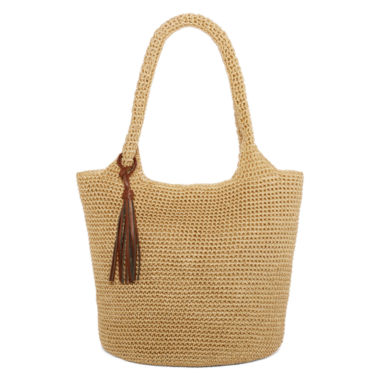 jcpenney.com | Straw Studios Solid Polystring Hobo Bag