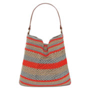 Straw Studios Striped Polystring Tote