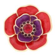 Liz Claiborne® Gold-Tone Flower Pin
