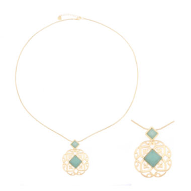 jcpenney.com | Monet® Green Stone Gold-Tone Pendant Necklace