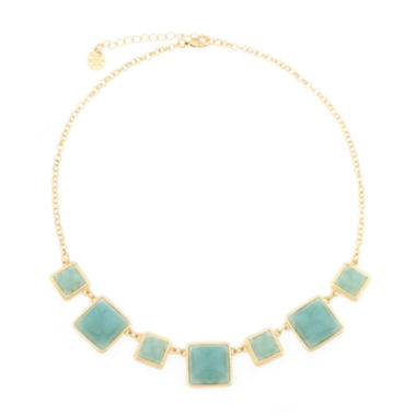jcpenney.com | Monet® Green Stone Gold-Tone Collar Necklace