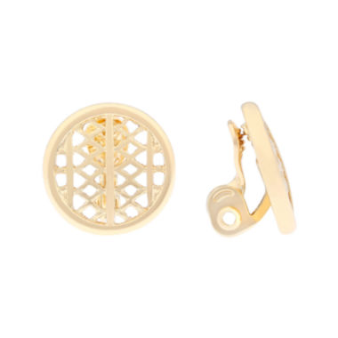 jcpenney.com | Monet® Gold-Tone Clip-On Earrings