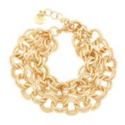 Monet® Gold-Tone Link Flex Bracelet