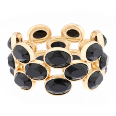 jcpenney.com | Monet® Black Stone Gold-Tone Stretch Bracelet