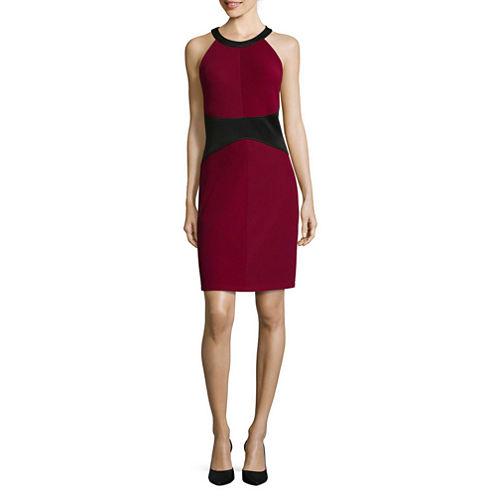 RN Studio by Ronni Nicole Textured Colorblock Sheath Dress