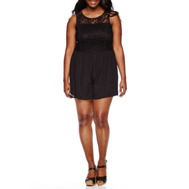 jcpenney.com | Love Reigns Sleeveless Lace-Top Romper