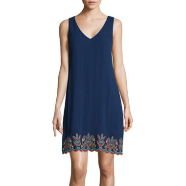 jcpenney.com | Love Reigns Sleeveless Embroidered Scallop Hem A-Line Dress