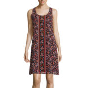 Love Reigns Sleeveless Floral Print A-Line Dress
