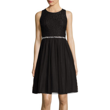 jcpenney.com | Speechless® Sleeveless Embellished-Waist Lace & Tulle Dress