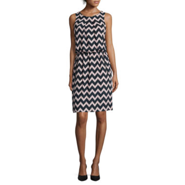 jcpenney.com | SL Fashions Sleeveless Chevron Blouson Dress