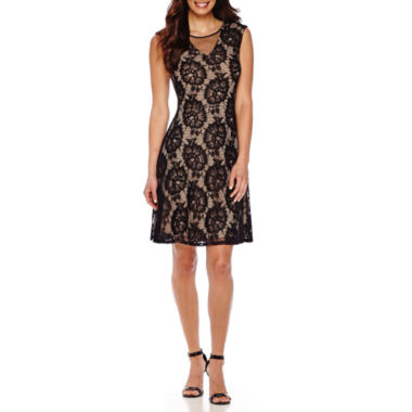 jcpenney.com | Scarlett Sleeveless Floral Lace Dress
